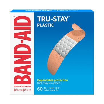 Band-Aid Plastic Strips, 60 Count