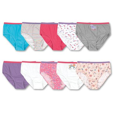 Hanes Girls' Briefs, 10-Pack