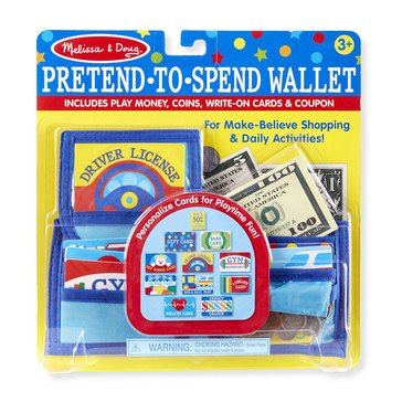Melissa & Doug Pretend-to-Spend Wallet Play Set