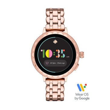 Kate Spade Women's Scallop Smartwatch 2 Rose Gold Strap Watch, 41mm