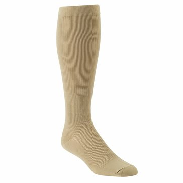 Jefferies Khaki Over-The-Calf Compression Support Dress Socks 1 Pair Style #1010