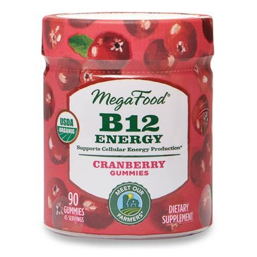 Megafood B12 Energy Cranberry Gummies 90ct