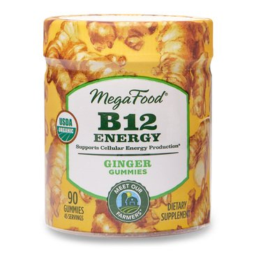 Megafood B12 Energy Ginger Gummies 90ct