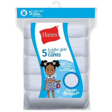 Hanes Toddler Girls' Camisoles, 5-Pack
