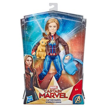 Marvel Comics Captain Marvel And Marvel's Goose Action Figure