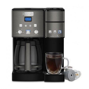 Cuisinart 12-Cup Black Stainless Coffee Center Coffeemaker (SS-15BKS)