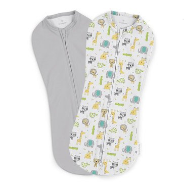 Summer Infant Swaddleme Pod, 2-Pack, Jungle Safari Excursion