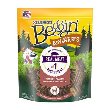 Beggin' Strips by Purina Adventures 23.5oz.Venison Treats