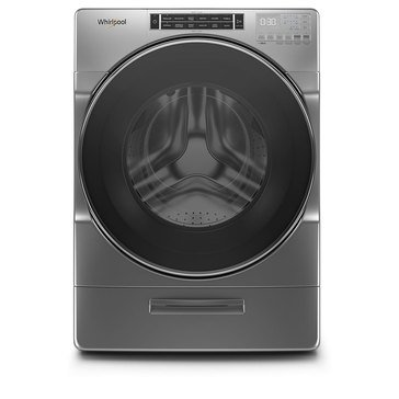 Whirlpool 4.3-Cu.Ft. Closet-Depth Front Load Washer, Chrome Shadow (WFW862CHC)