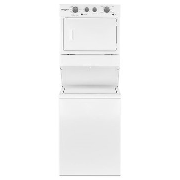 Whirlpool Stacked Washer/Gas Dryer Combo, White  (WGT4027HW)