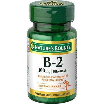 Nature's Bounty B2 Riboflavin 100 MG 100ct