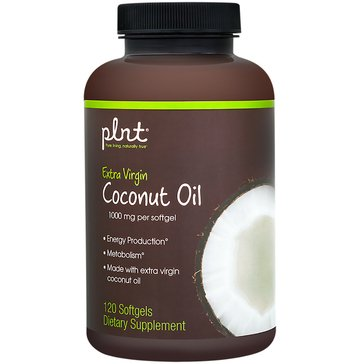 Plnt Organic Extra Virgin Coconut Oil 1,000 MG 120 Softgels