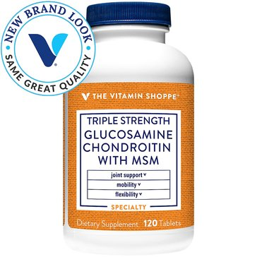 The Vitamin Shoppe Triple Strength Glucosamine Chondroitin with MSM 120 Tablets