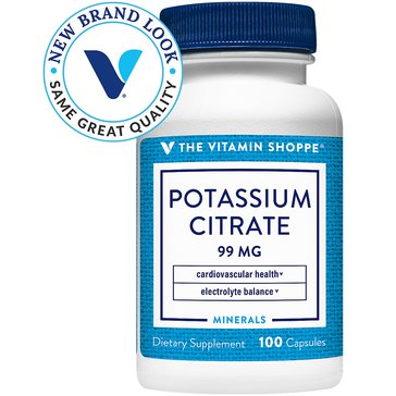 The Vitamin Shoppe Potassium Citrate 99 MG 100 Capsules
