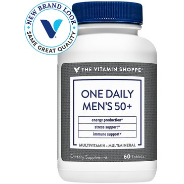 The Vitamin Shoppe One Daily Men's 50+ Multivitamin and Multimineral with Vitamin D3 60 Tablets