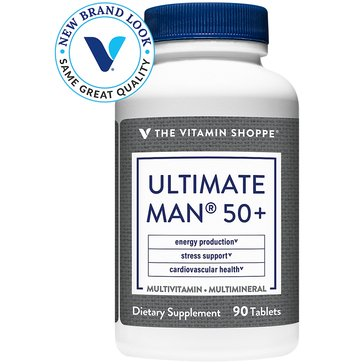 The Vitamin Shoppe Ultimate Man 50+ Multivitamin and Multimineral 90 Tablets