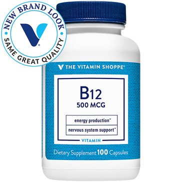 The Vitamin Shoppe Vitamin B12 - 500 MCG 100 Capsules