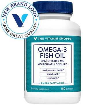 The Vitamin Shoppe Omega 3 Fish Oil 1,200 MG EPA/DHA 180 Softgels