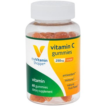 The Vitamin Shoppe Vitamin C Gummies - Natural Orange Flavor 250 MG 60 Gummies
