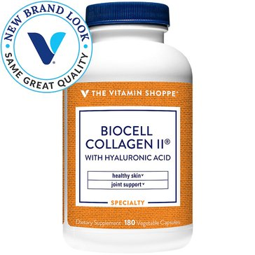 The Vitamin Shoppe BioCell Collagen II with Hyaluronic Acid 1,000 MG 180 Capsules
