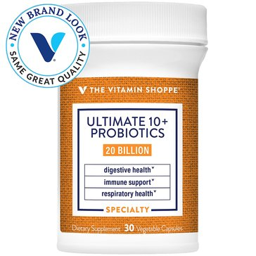 The Vitamin Shoppe Ultimate 10+ Probiotics 20 Billion CFUs 30 Vegetable Capsules
