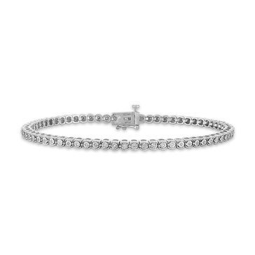 2/10 ct.tw. Diamond Miracle Plated Fashion Bracelet, 10K