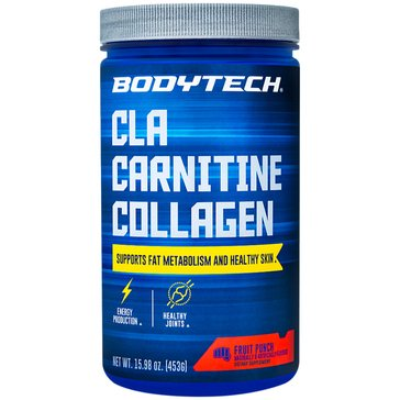BodyTech CLA Carnitine Collagen - Fruit Punch, 15.98oz 30 Servings