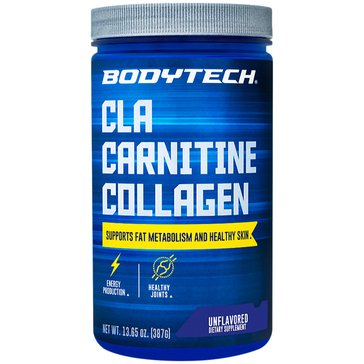 BodyTech CLA Carnitine Collagen - Unflavored, 13.65oz 30 Servings
