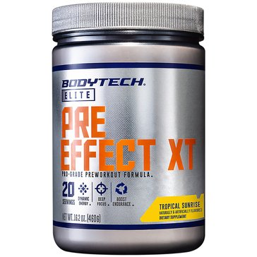 BodyTech Elite Pre-Effect XT Pro-Grade Pre-Workout Formula - Tropical Sunrise 16.2oz 20 Servings