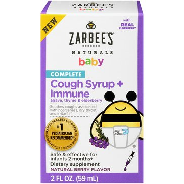 Zarbees Baby Complete 2 oz. Cough Syrup Immune With Elderberry