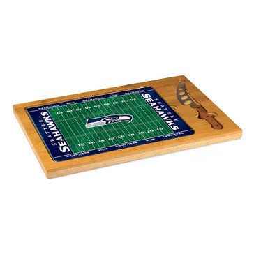 Picnic Time Seattle Seahawks Icon Glass Top Cutting Board
