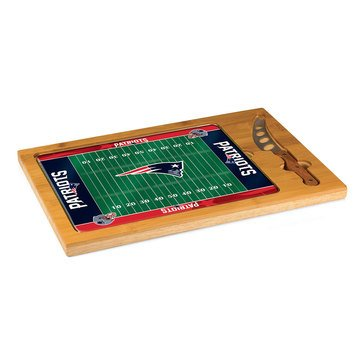 Picnic Time New England Patriots Icon Glass Top Cutting Board