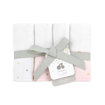 Just Born® Sparkle 4-Pack Washcloths