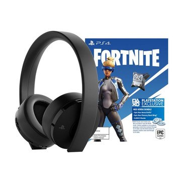 PS4 Gold Wireless Headset w/ Fornite Neo Versa Bundle