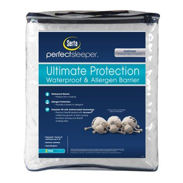 Serta Perfect Sleeper Ultimate Protection Waterproof And Allergen Barrier, King