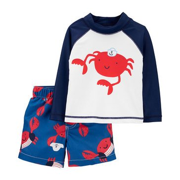 Carters Baby Boys' 2-Piece Sea Life Crab Swimwear Set