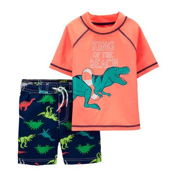 Carters Baby Boys' 2-Piece King Of The Beach Swimwear Set