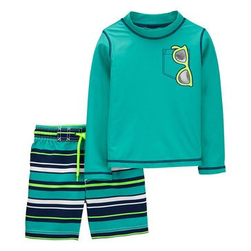 Carters Baby Boys' 2 Piece Sunglasses Swimwear Set