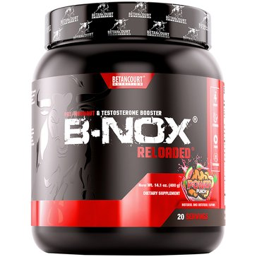 Betancourt Nutrition B-Nox Reloaded Pre-Workout and Testosterone Booster Power Punch 14.1oz 20 Servings