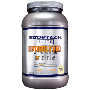 BodyTech Elite Hydrolyzed Whey Protein Isolate - Vanilla1.63 lbs 20 Servings