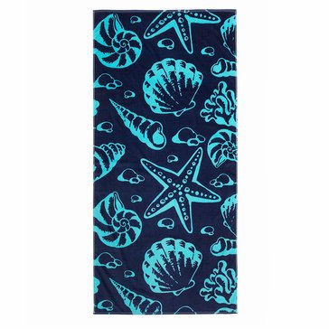 Harbor Home Print Stars And Shells Beach Towel