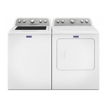 Maytag Top Load Washer/Electric Dryer Bundle (MVWXE655DW)