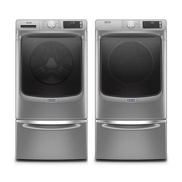 Maytag Front Load Washer/Electric Dryer Bundle with Pedestals (MHWE6630HCPED)