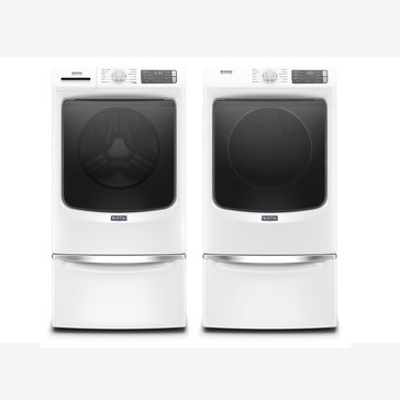 Maytag Front Load Washer/Electric Dryer Bundle with Pedestals (MHWE6630HWPED)
