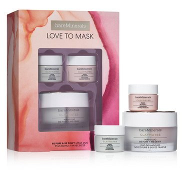bareMinerals Love To Mask Be Pure & Be Dewy Mask Duo