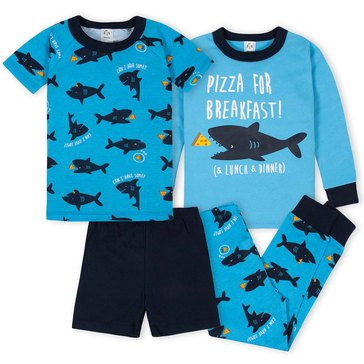 Gerber Baby Boys' 4-Piece Cotton Pj Set