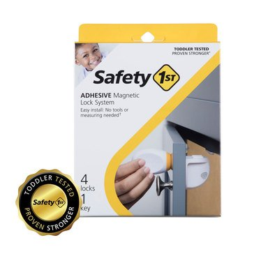 Safety 1st Adhesive Magnetic Lock System - 4 Locks and 1 Key