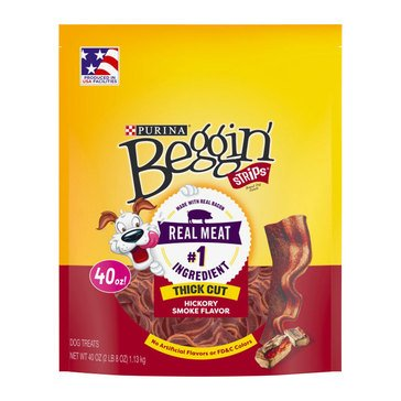 Beggin' Strips Thick Cut Hickory Smoke 40 oz. Adult Dog Treats