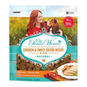Pioneer Woman by Purina Chicken and Sweet Taters 30 oz.Bites Dog Treats