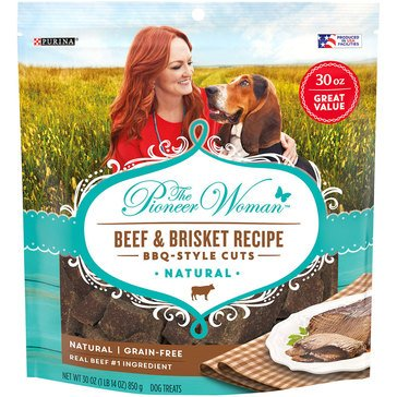 Pioneer Woman by Purina Beef and Brisket BBQ Style30 oz. Cuts Dog Treats